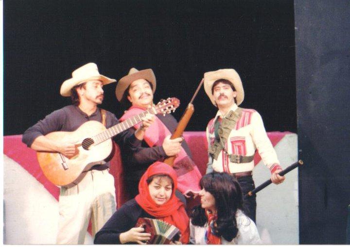 "Tony, Angel, Rudy and Debra in ""Intro to Chicano History:101"""