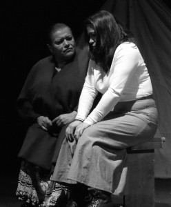 Yolanda Ortega and Magally Rizo in the Su Teatro production Ludlow: El Grito de Las Minas. Photo courtesy of Valeriana Sloan.